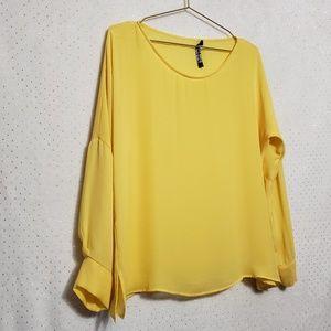 Zara* Golden Yellow/Mustard Blouse *SZ M*